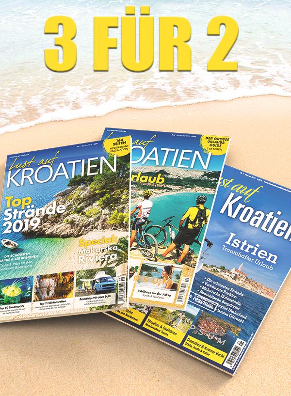 Lust auf Kroatien 2 Hefte PLUS Heft GRATIS